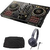PIONEER DJコントローラー DDJ-400-N + ヘッドホン + ダストカバー DJセット 《教則動画 & ステッカー付》 ddj pcdj
