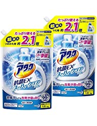 【まとめ買い】アタック 抗菌EX スーパークリアジェル 洗濯洗剤 液体 詰め替え 1.6Kg×2個