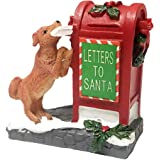 HUNTHAWK Village Collection Santa's Mailbox Ornaments, Home Decoration Santa Resin Fit for Christmas Tree Festival