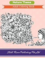 Nature Theme: Adult Coloring Book