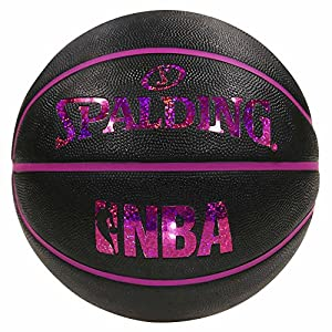 バスケットボール 5号球 ミニバス対応(小学生用) 屋外用 ホログラムラバー NBA公認 ブラックピンク バスケ バスケット 83-795J
