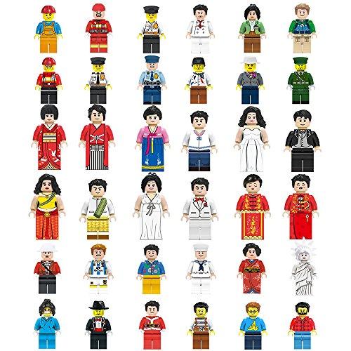 [해외]미니 피규어 (미니 피구)는 36 세트 레고 호환 호환/Mini figure (Minifig) 36 body set Compatible with Lego