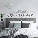 RoomMates Roommates RMK2084SCS Always Kiss Me Goodnight Peel and Stick Wall Decals, RMK2084SCS