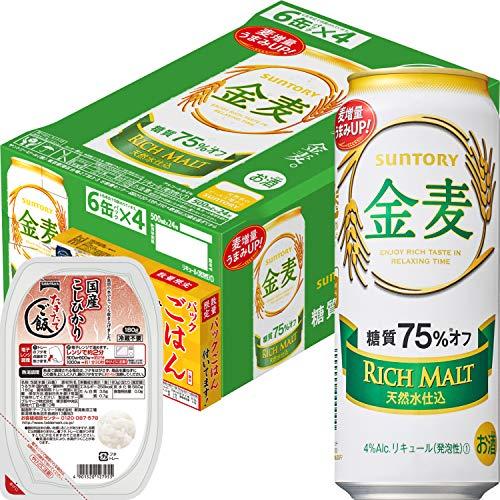 サントリー 新ジャンル 金麦 糖質75%オフ 500ml × 24缶