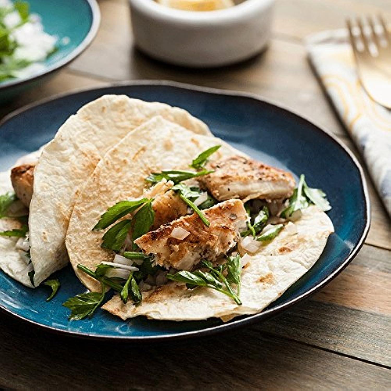 housewaresstore- ストーンウェア不規則ヘキサパン食器ステーキ料理パスタディッシュ家庭用フラットディッシュデザートプレート8インチ plate