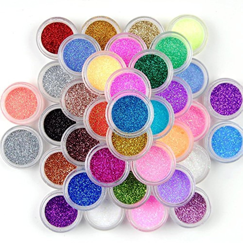 12個ネイルアートDust Glitter Powder DIY装飾ヒント、色ランダム
