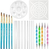 URlighting Dotting Tools (20 Pcs) Mandala Dotting Kit for Rock Painting, Coloring, Drawing & Drafting, Kids' DIY Crafts, Clay