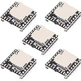 オーガナイザー 5個 YX5200 DFPlayer Mini MP3プレーヤーモジュール MP3 音声デコードボード TFカード対応 Uディスク IO/シリアルポート/AD Arduino UNO対応