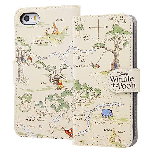 iPhone SE/5s/5 ディズニーキャラクター/手帳型ケース マグネット/くまのプーさん24