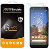 (2 Pack) Supershieldz for Google (Pixel 3a) (Updated Version) Tempered Glass Screen Protector, Anti Scratch, Bubble Free