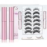 Magnetic False Eyelashes, ALOhaLi 7 Different Pairs of 6D Reusable Magnetic False Eyelashes, Natural Look Without Glue