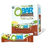 Orgain Organic Kids Energy Bar, Chocolate Brownie - Great for Snacks, Vegan, 7g Dietary Fiber, Dairy Free, Gluten Free, Lacto