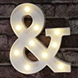 (&) - DELICORE Ampersand Symbol Marquee Letter Lights Alphabet Light Up Sign for Wedding Home Party Bar Decoration &