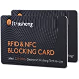 2Pcs RFID Blocking Card, Fuss-free Protection for Entire Wallet Shield, Credit Card Protector NFC Bank Debit Blocker, Identit