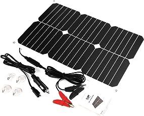 カーソーラーチャージャー 18W ALLPOWERS ソーラーパネル 18V 12V SunPower 高効率 超薄型 ポータブル 防水 太陽光パネル バイク 自動車 トラクター ボート バッテリーメンテナンス ソーラー充電器
