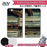 301-sanmaruichi- iPhone6splus ケース iPhone6plus ケース 手帳型 おしゃれ hipjop dj dig ディグ レコード バイナル B シボ加工 高級PUレザー 手帳ケース ベルトなし