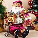高品質35 センチ クリスマス サンタクロース座っ人形置物玩具ホームルーム飾り装飾インテリア ギフト