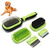 Sunshine Solution Professional Dog Brush , Cat Brush for Dog and Cat Grooming | 5 in one Solution | Dematting Comb | Dog Comb