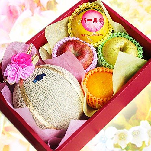 【 贈答用 】フルーツとお花の贈り物 フルーツギフト (メロン)
