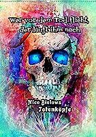 Wer vor dem Tod flieht, der laeuft ihm nach - Nico Bielows Totenkoepfe (Wandkalender 2020 DIN A2 hoch): Toetenkoepfe koennen auch freundlich und bunt sein. (Monatskalender, 14 Seiten )