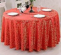 GRJH® テーブルクロス、フルサイズテーブルクロスコーヒーテーブルクロスシンプルな防汚モダンホームホテル - 長方形/円形 防水 ( 色 : #1 , サイズ さいず : 340cm diameter )