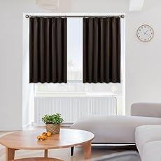 NICETOWN 遮光カーテン 遮光 カフェカーテン 2枚セット