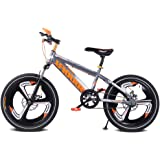 Single Speed Kids' Mountain Bike, 16''18''20'' Gears Road Bicycle Mountain Student Dual Disc Brake Bicycle Reduce Vibration C
