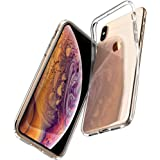 Spigen [Liquid Crystal] iPhone X Case with Slim Protection and Premium TPU for Apple iPhone X (2017) - Crystal Clear