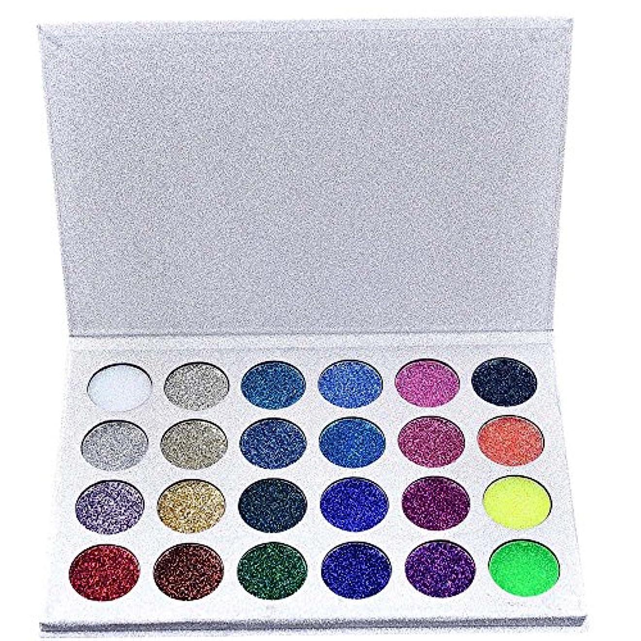 スリップシューズインデックスプーノ24色化粧品パウダーアイシャドーパレットメイクナチュラルシマーマットセット