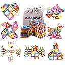 idoot 磁気ブロックセット 56ピース 収納袋付き 組み立て おもちゃ 知育玩具 磁石 積み木 知育 立体 パズル はめ込み 並行輸入品