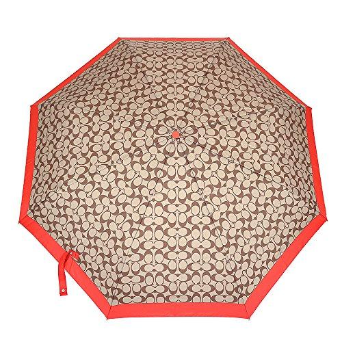 [コーチ] COACH 小物 (折りたたみ傘) F63364 カーキ×バーミリオン SKHVR シグネチャー レディース [アウトレット品] [並行輸入品]