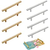 Minelife 8 Pieces Silicone Resin Tray Handles, Stainless Steel Resin Tray Molds Handles for Silicone Serving Tray Mold Cabine