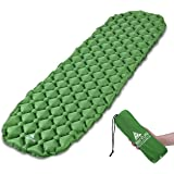 Hikenture Ultralight Sleeping Mat | Backpacking Sleeping Pad-Compact Inflatable Camping Air Mattress Pad for Camping,Sleeping