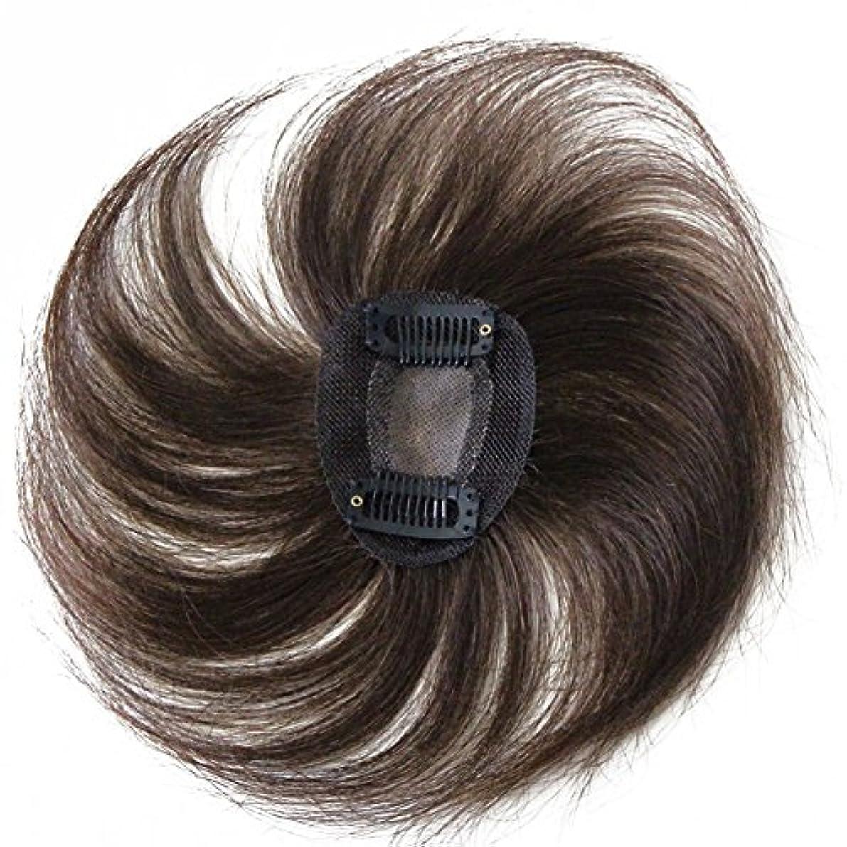 ウミウシ部解放Remeehiヘアピース トップビース つむじカバー ヘアピース 白髪隠し ボリュームアップ