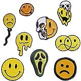 Shinmond 9 Styles I Am Not Happy Enamel Pins Summer Hot to Deformation Melted Avocado Skull Face Brooches Denim Shirt Lapel P