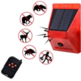 Solar Strobe Light with Motion Detector Solar Alarm Light 110db Sound Security Siren Light IP65 Waterproof One Time Solar Cha