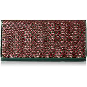 [ティサンド] 長財布 日本製 印伝(麻の葉柄) 6C618 RD 赤