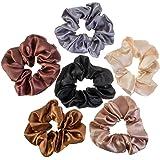 VAGA Cute Scrunchies For Hair 6 Colors Set, Our Hair Scrunchies Hair Elastics Ponytail Holder Pack Is Softer Then Regular Hai