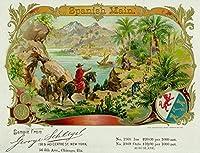 スペイン語メインブランドシガーボックスラベル 9 x 12 Art Print LANT-27596-9x12