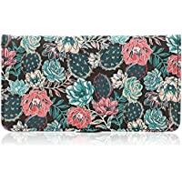 Juvale Checkbook Cover Printed Cactus Succulent Wallet - 6.9 x 3.75 inches