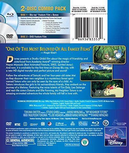 My Neighbor Totoro (Two-Disc Blu-ray/DVD Combo)(1988)[Import]