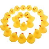 Wankko Mini Yellow Rubber Bath Ducks for Child 24pcs