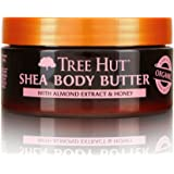 Tree Hut 24 Hour Intense Hydrating Shea Body Butter Almond & Honey, 7oz, Hydrating Moisturizer with Pure Shea Butter for Nour