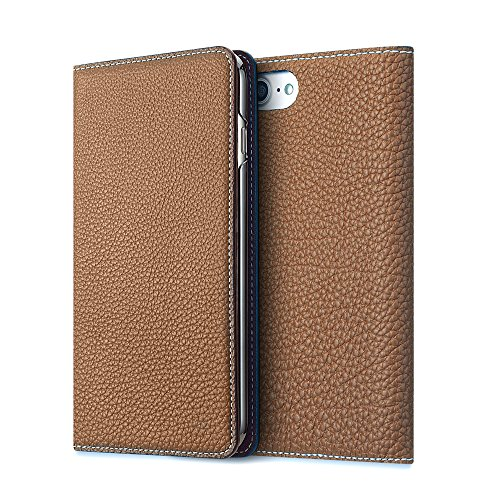 BONAVENTURA ボナベンチュラ iPhone 7 ケース (4.7インチ) ドイツ製本革 牛革 手帳型 (ライトブラウン)