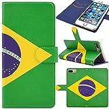 iphone 6s ケース iphone 6 ケース 手帳型 iphone 6s カバー iphone 6s 手帳型 ケース iphone 6 カバー PUレザー素材 iphone 6 手帳 iphone 6s ケース おしゃれ スタンド機能、カードホルダ付き Minisuit series Type I18 ブラジル国旗 Y01シリーズ