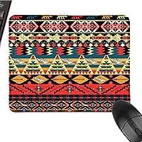 """Native American DecorOffice マウスパッド エスニック ノマディックラグ シームレスパターン 防水マウスパッド 9.8インチx11.8インチ 9.8""""x11.8"""""""