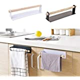 St. Lun Under Cabinet Kitchen Towel Holder Roll Paper Tissue Hanger Storage Rack (Color : White)