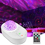 Galaxy Star Night Light Projector LED Ocean Wave Bluetooth Music Speaker with Remote Control for Bedroom, Home, Room Decor, A