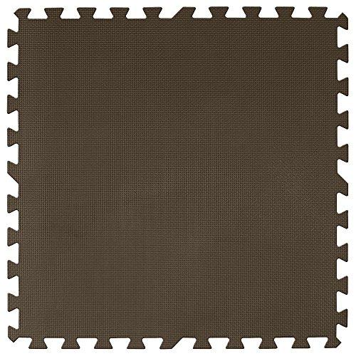 アイリスプラザ  ジョイントマット 大判 60×60cm 3畳用 16枚組 厚さ2cm ブラウン 超低ホルムアルデヒド 防音 洗える  JTM-60-極厚20