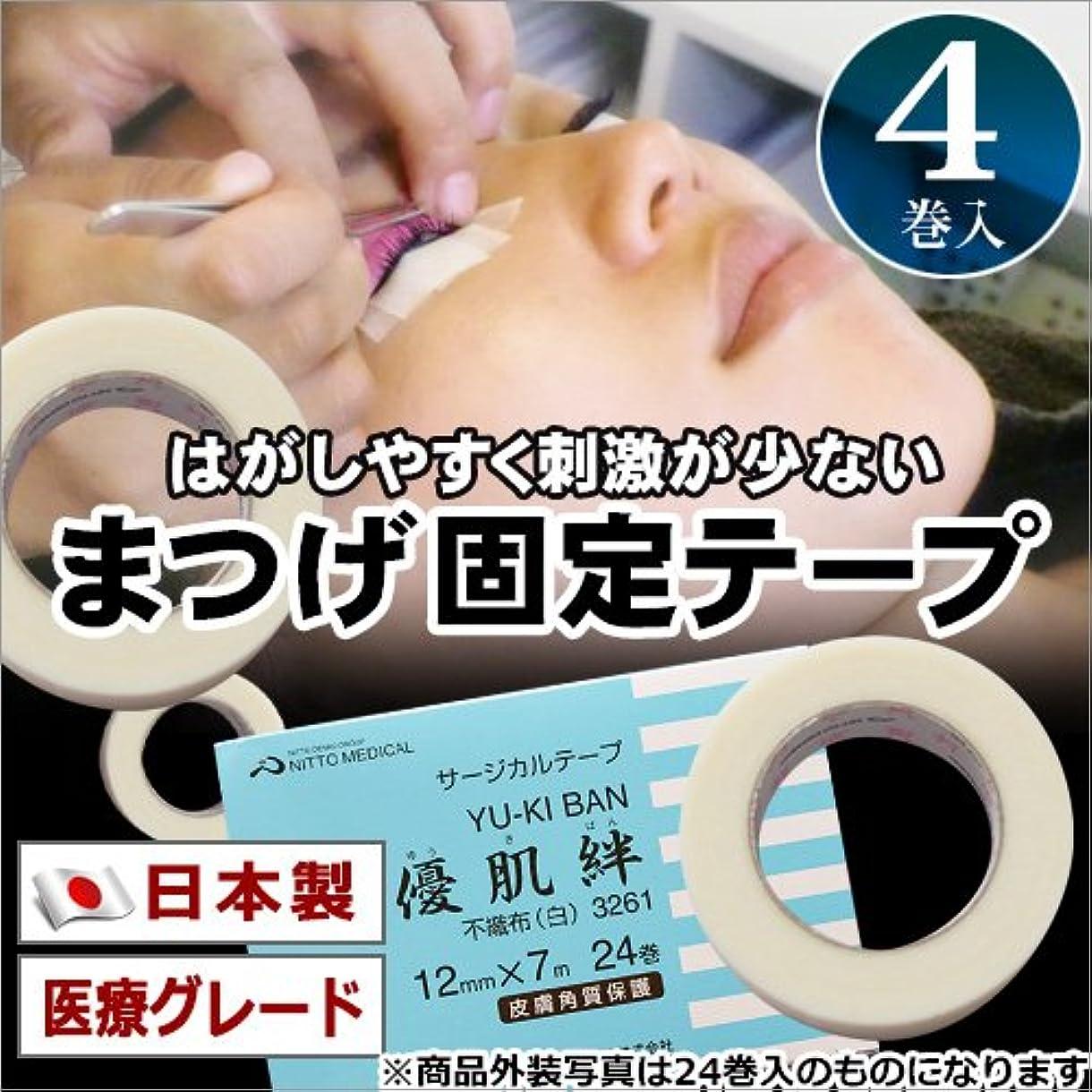 毛布油支店日本製 医療グレード アイラッシュテープ(まつげ固定テープ)4巻